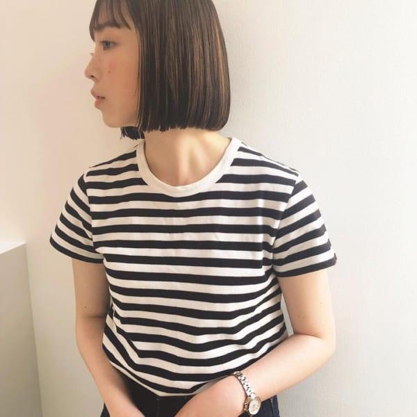 前髪ぱっつん×ボブヘア15