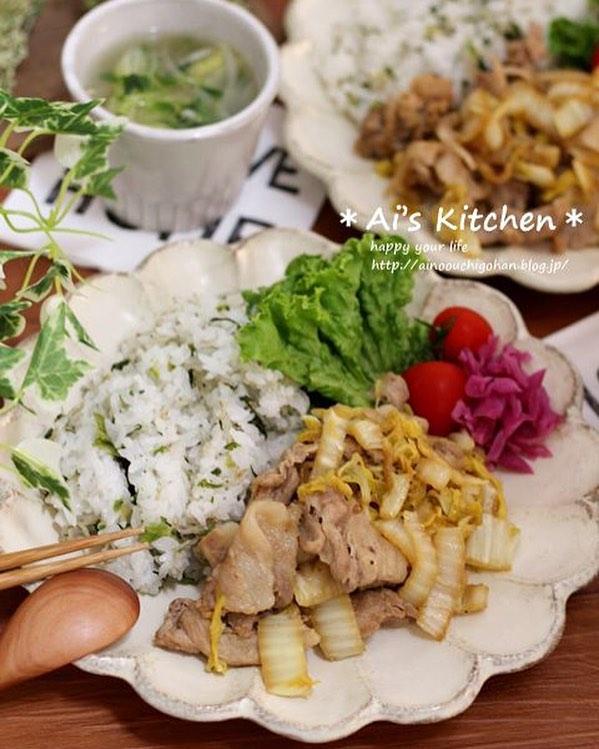 豚肉と白菜のバタポン炒め