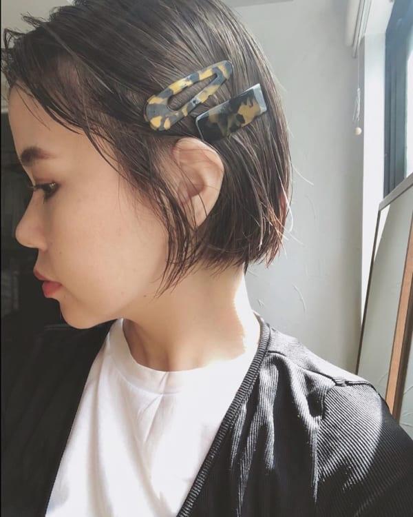 前髪ぱっつん×ボブヘア18