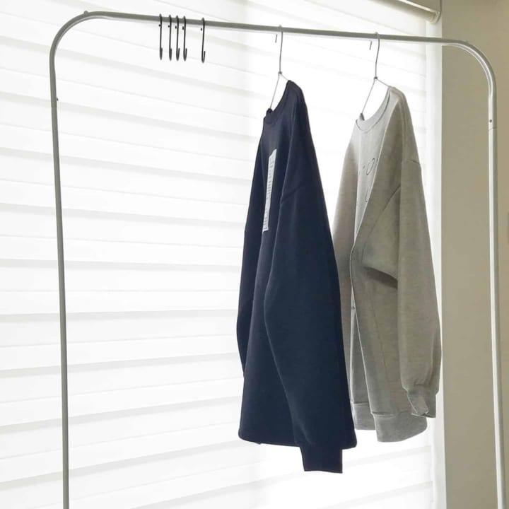 衣類収納にハンガーラック