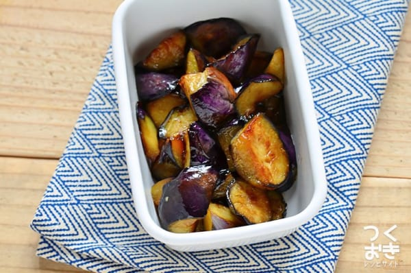 簡単な副菜のレシピに!なすの蒲焼き風