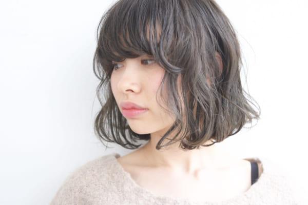 前髪ぱっつん×ボブヘア9