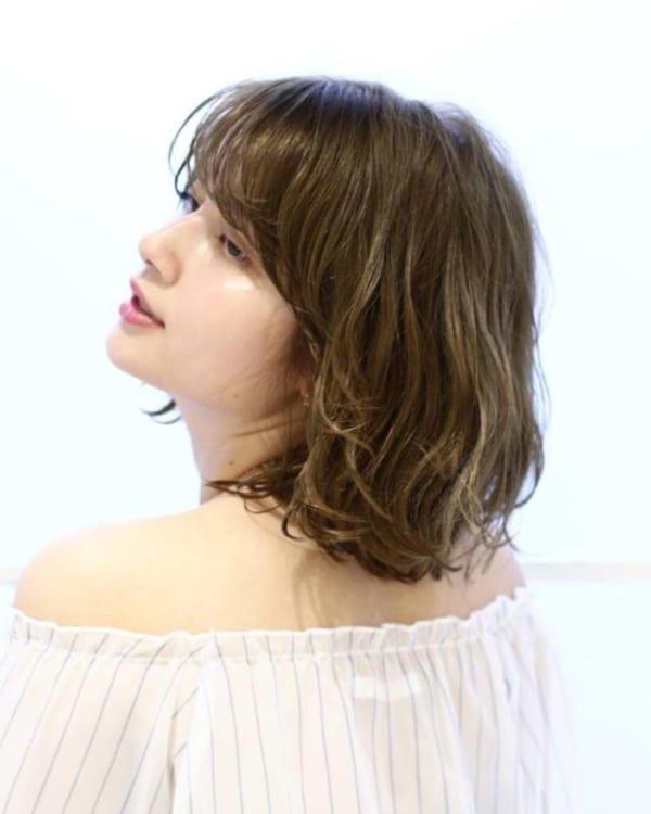 前髪ぱっつん×ボブヘア7