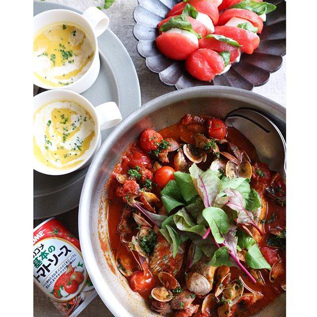 鯛のトマト煮込み