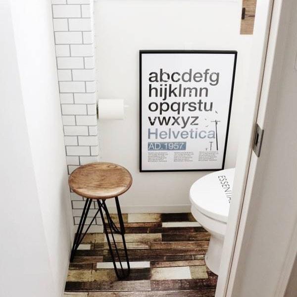 リメイクシートを用いたトイレの床の模様替え