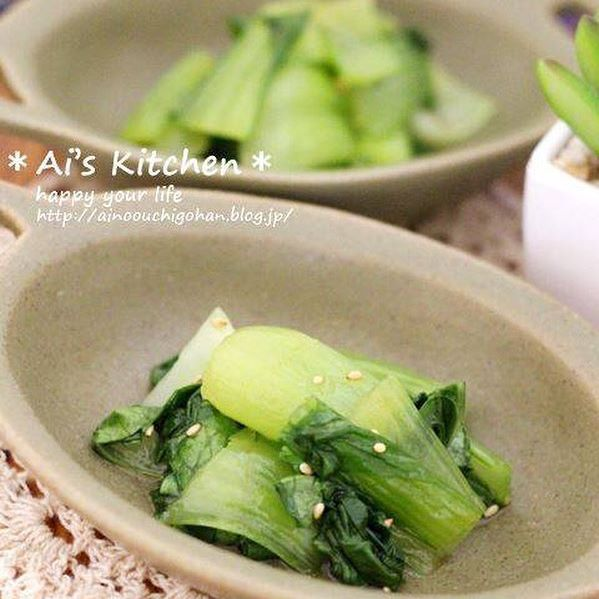 話題の簡単な副菜に!チンゲン菜の中華風お浸し