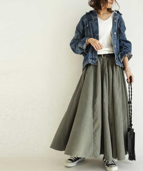 [antiqua] デザインスカート