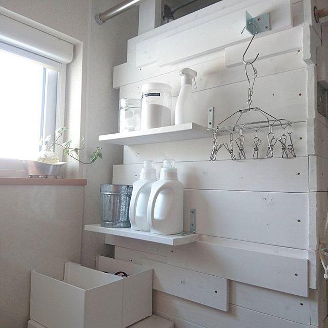 ディアウォールを使った洗面所の収納DIYアイデア4
