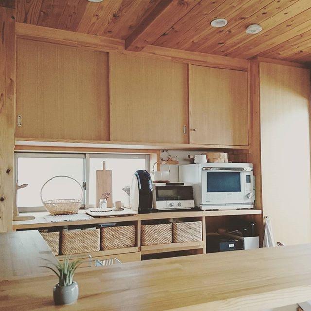 アジアンリゾート風のキッチンインテリア2