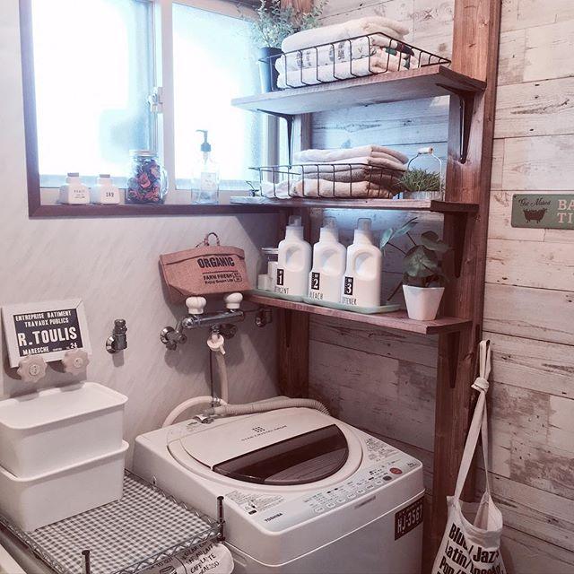 ディアウォールを使った洗面所の収納DIYアイデア3