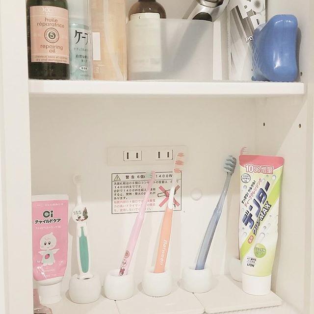 無印グッズを使った洗面所の鏡裏の収納アイデア2