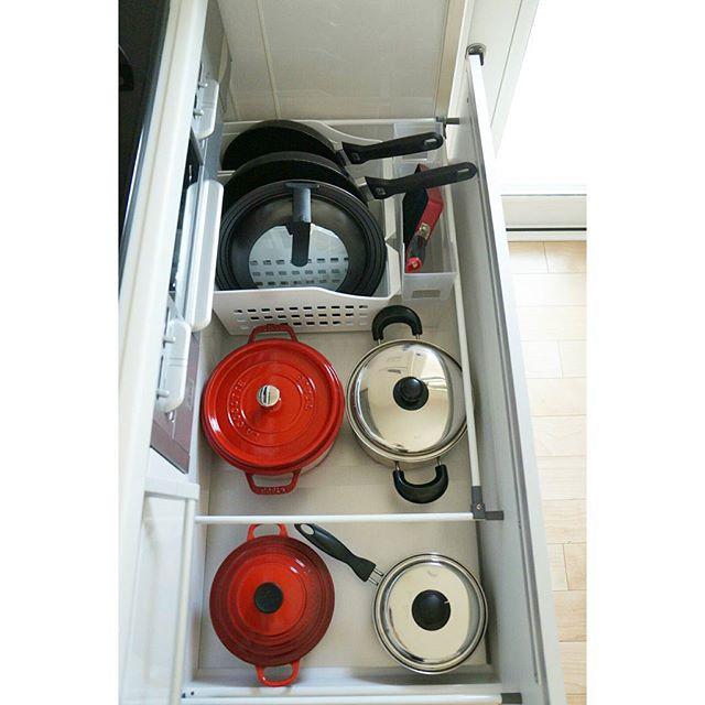 ドロワー内のメッシュケースを使う収納術