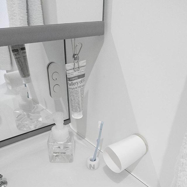 洗面所グッズをすっきり片付けるアイデア