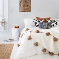 アジアンリゾート風の寝室インテリア3