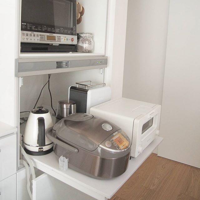 キッチン家電を隠す方法