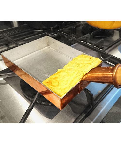 本格的な卵焼きが楽しめる銅製卵焼き器