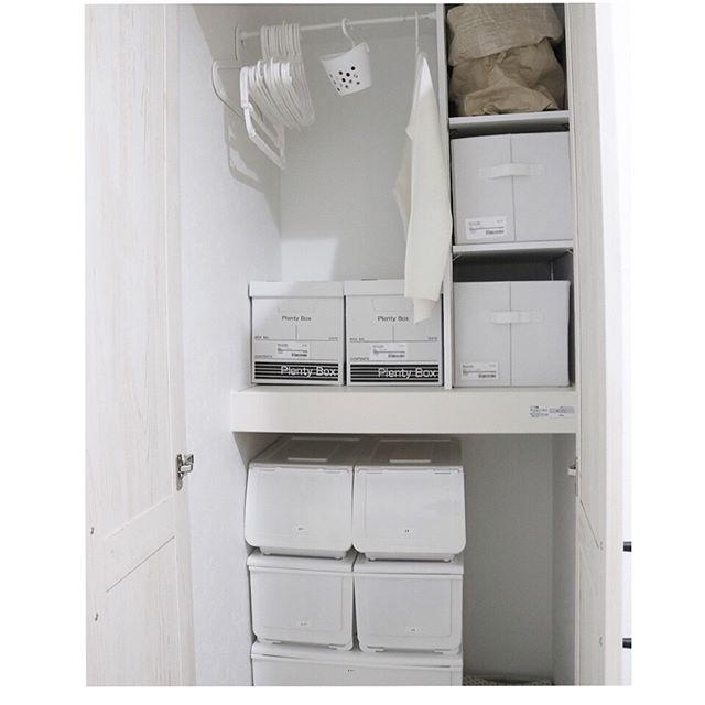 突っ張り棒で洗濯用ハンガーを整理整頓