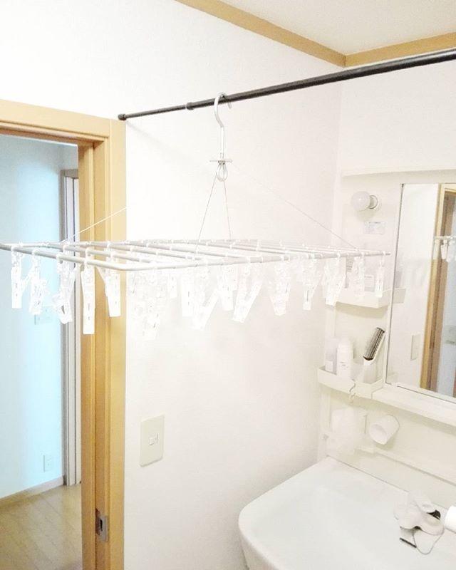洗面所の部屋干しに活用するアイデア