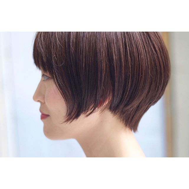 ショートヘア×カラー×ブラウン