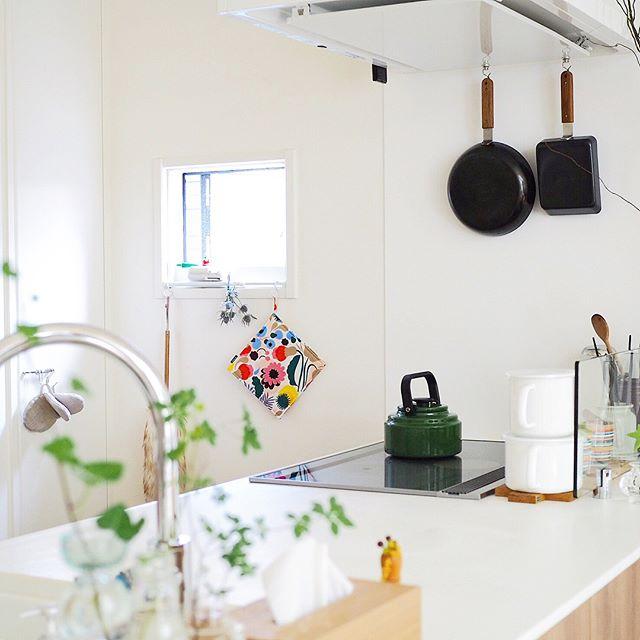 キッチンの吊下げ収納にするアイデア