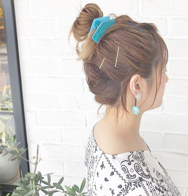 夏祭り 髪型 ボブ7