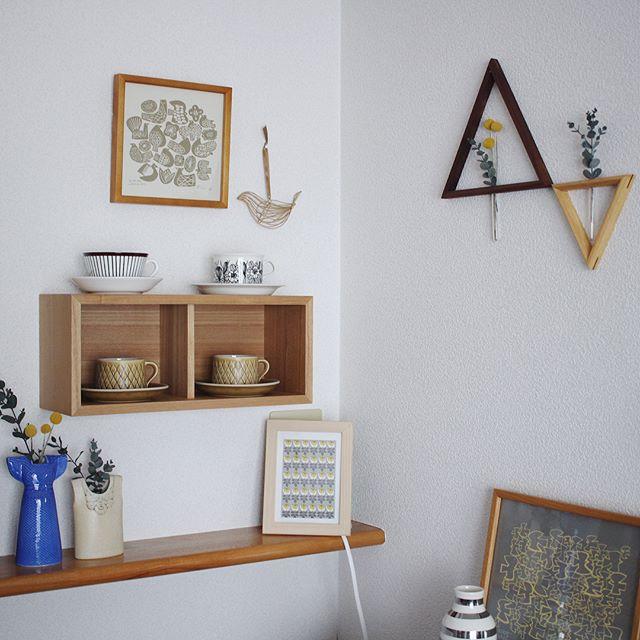 お気に入りを飾るシンプル壁面収納
