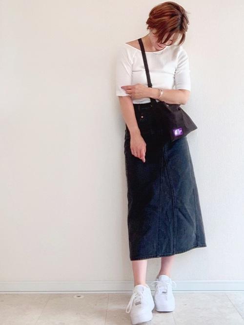 五分袖トップス×ZARAスカート