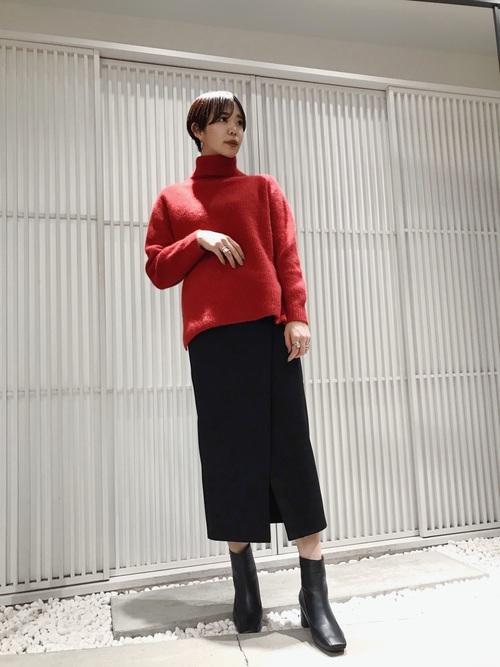 [UNITED TOKYO] スリットタイトスカート