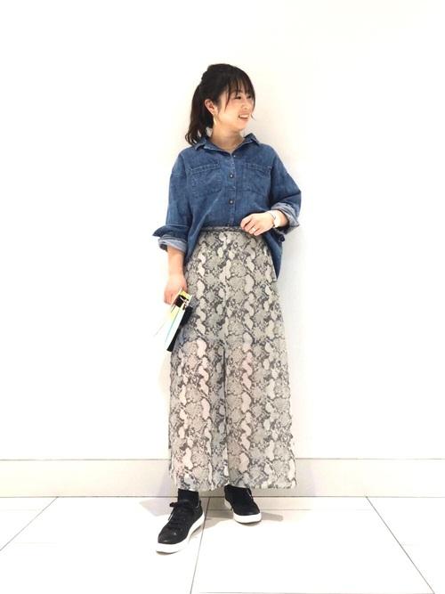 柄×フレアスカート2