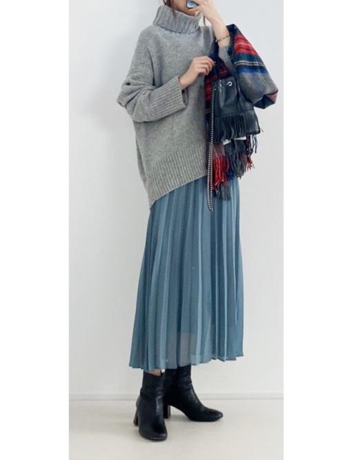 無地×フレアスカート2