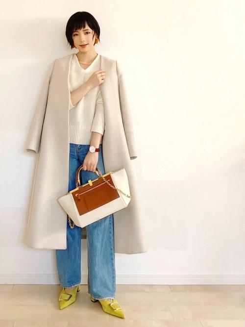きれいめAラインコートで色っぽ冬コーデ