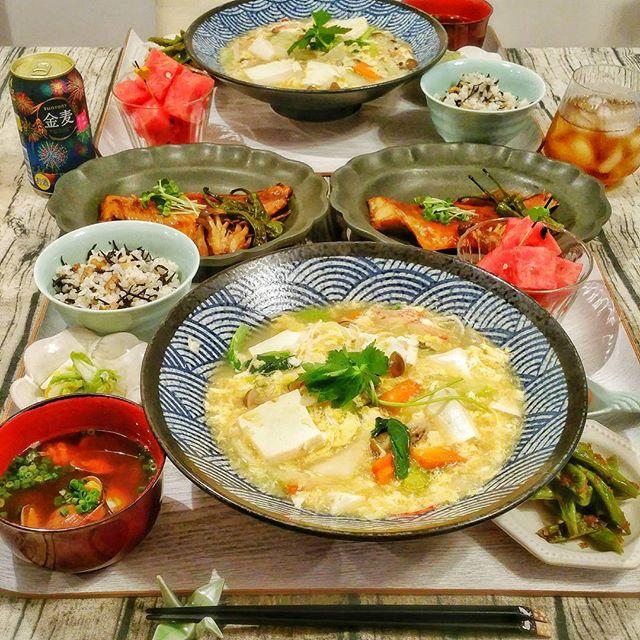 チャーハンと簡単に!豆腐と野菜のトロトロ煮