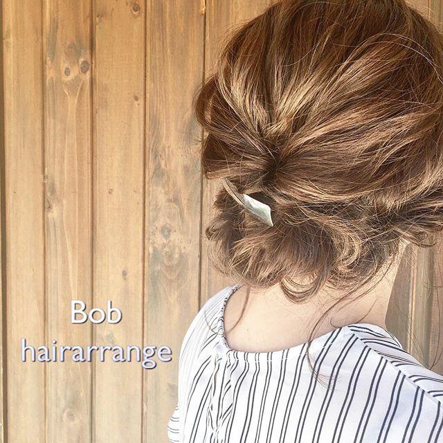 夏祭り 髪型 ボブ2