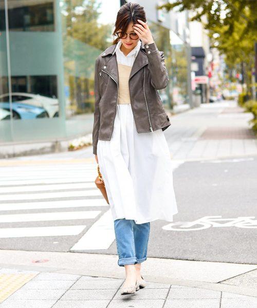 [Fashion Letter] エコレザー ダブルライダースジャケット2