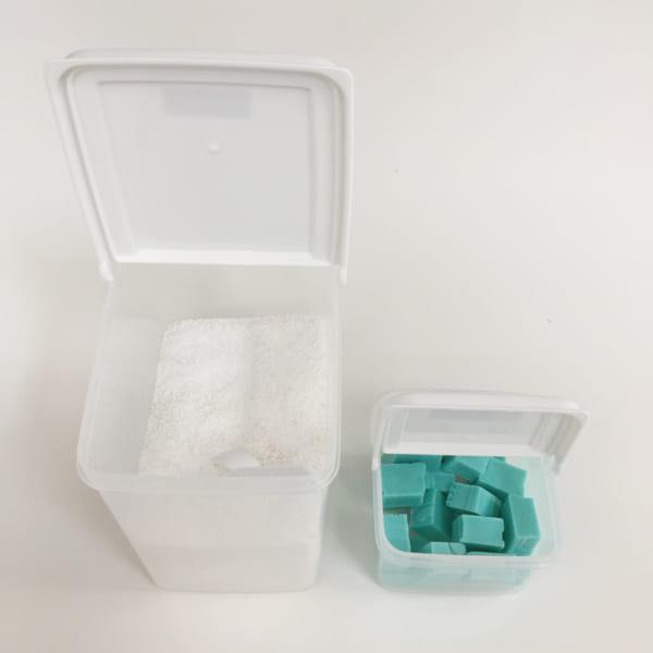 粉洗剤を入れるのに便利なダイソーの容器