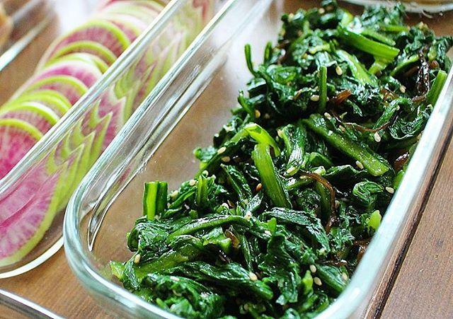 週末作るレシピにおすすめ!春菊の塩昆布ナムル