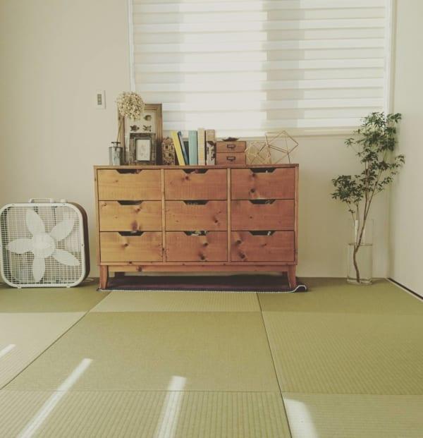 和室に北欧家具をコーディネート