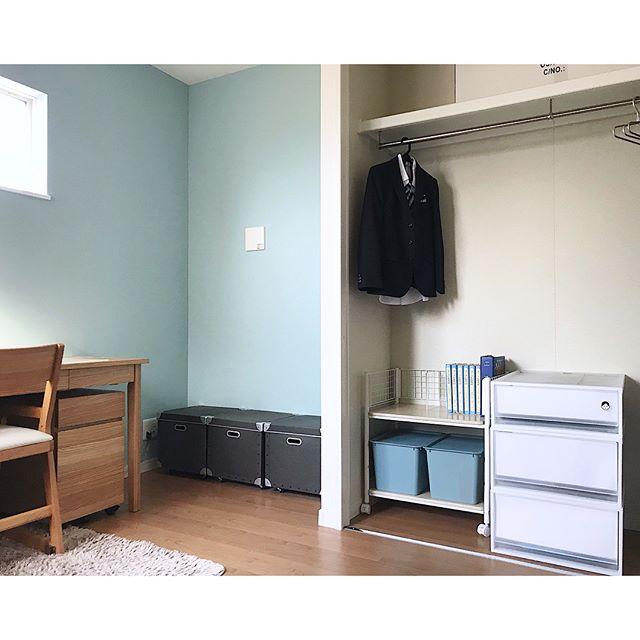 子供部屋の箱や引出しで隠す収納を実践