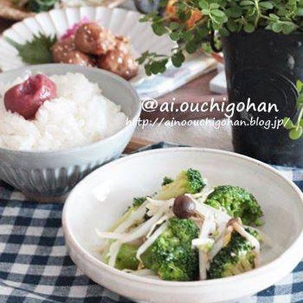 天ぷらに!ブロッコリーともやしの塩麹サラダ