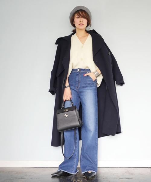 [STUDIOUS WOMENS] 【STUDIOUS】【WEARISTA miki コラボ】裾フリンジワイドデニム