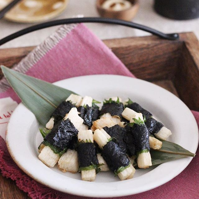 大葉香る山芋のひとくち海苔巻き揚げ