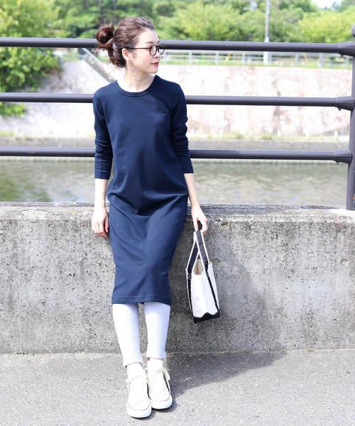 6月の軽井沢:スウェットワンピの服装