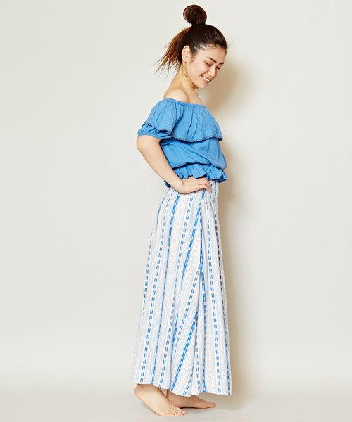 [チャイハネ] 【Kahiko】ハワイアン柄ロングスカート