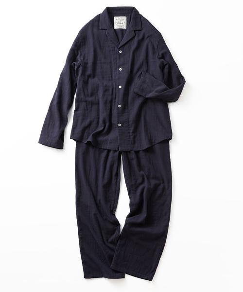 [FELISSIMO] 宅配便も取りにいける! リブ イン コンフォート コットン100% ダブルガーゼのパジャマ<メンズ>