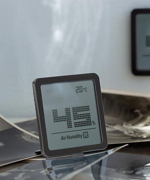 [entre square] Stadler Form/Selina little ハイグロメーター 温湿度計 ブラック