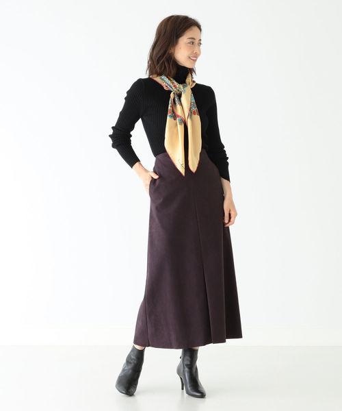 [BEAMS WOMEN] Demi-Luxe BEAMS / エコスエードスカート
