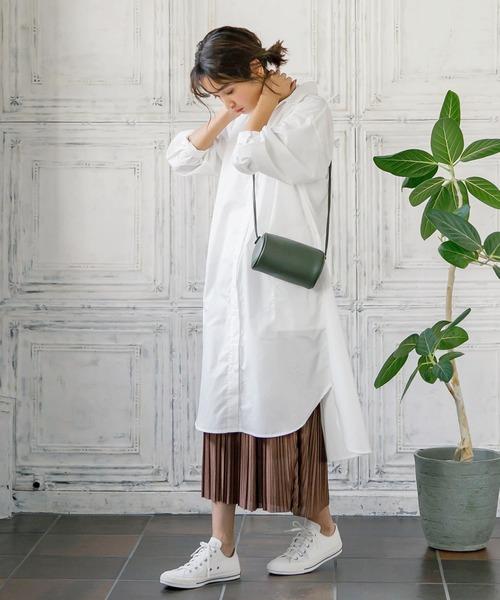 [kobelettuce] ロング丈/マキシ丈2typeサテンプリーツスカート