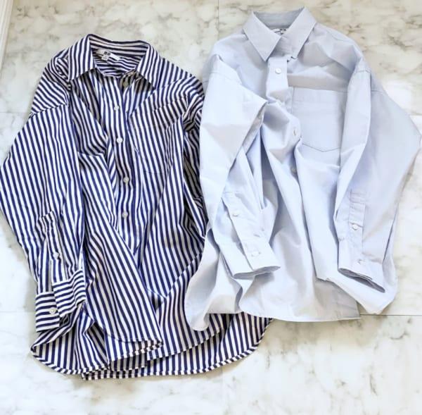 UNIQLO エクストラファインコットンオーバーサイズロングシャツ