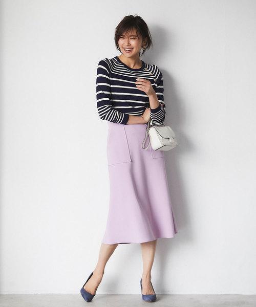 [tocco closet] スクエアポケットAラインスカート