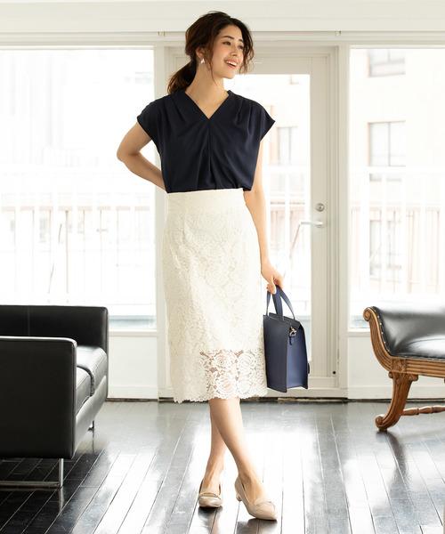[ViS] フラワーレースタイトスカート